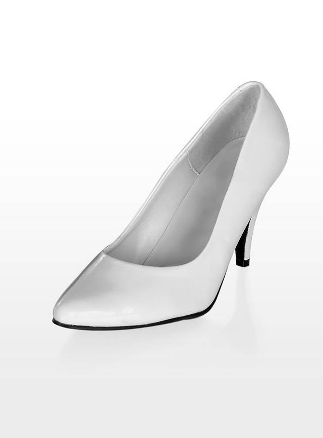 klassische pumps wei brautschuhe high heels hochzeit 9. Black Bedroom Furniture Sets. Home Design Ideas