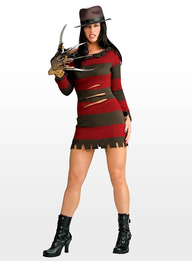 sexy miss freddy krueger halloween womens costume with glove ebay. Black Bedroom Furniture Sets. Home Design Ideas