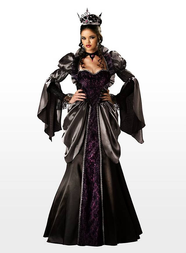 b se k nigin halloween damen kost m schwarz gothic vampir kleid in s bis xxxl ebay. Black Bedroom Furniture Sets. Home Design Ideas