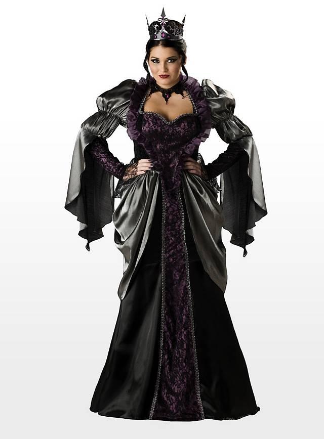 b se k nigin halloween damen kost m schwarz gothic vampir kleid in s bis xxxl ebay. Black Bedroom Furniture Sets. Home Design Ideas