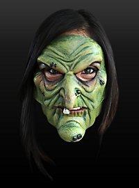 Hexenmaske Einzahn Halbmaske aus Latex