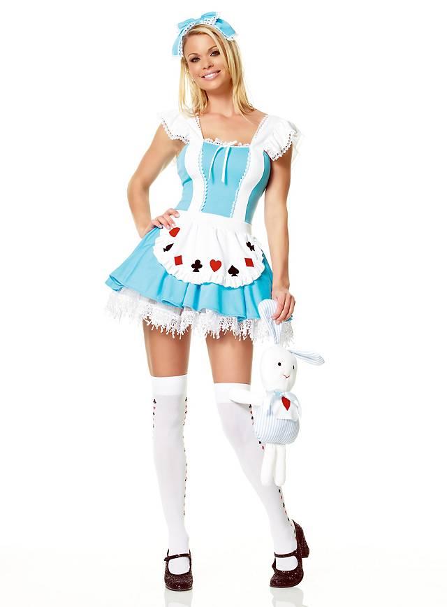 Sexy Alice Kostüm Wunderland Damenkostüm Karneval im Fasching