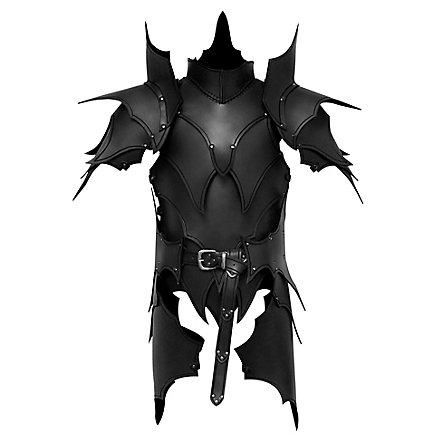 Armure d'elfe noir avec tassettes en cuir noir