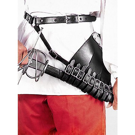 Belt with multi strapped right handed sword hanger