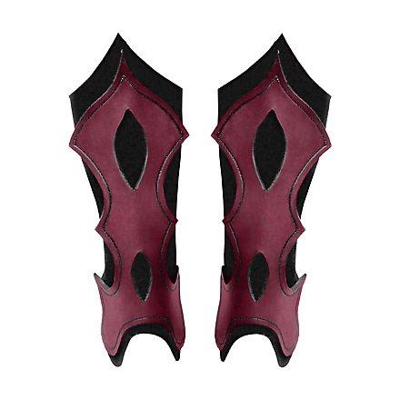 Bogenschütze Beinschienen rot
