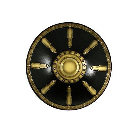 Bouclier de gladiateur luxe doré Arme factice