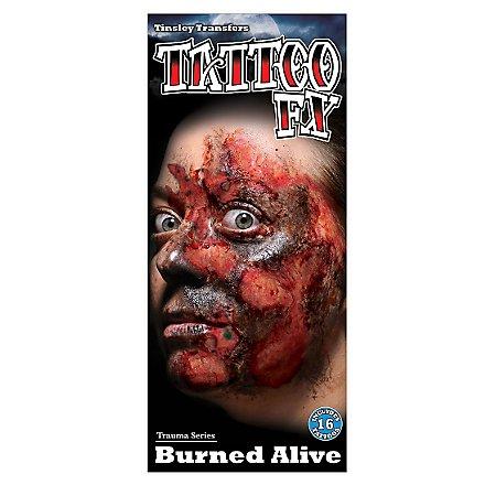 Brandwunde Klebe-Tattoo