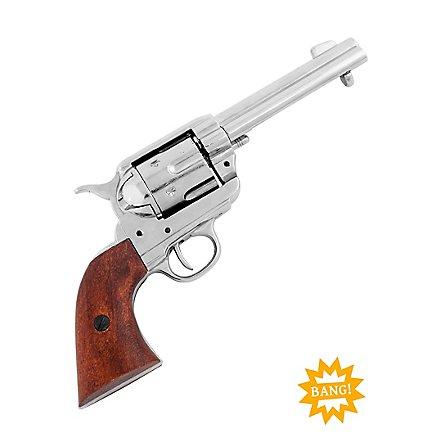 """Colt """"Peacemaker"""" silbern Dekowaffe"""