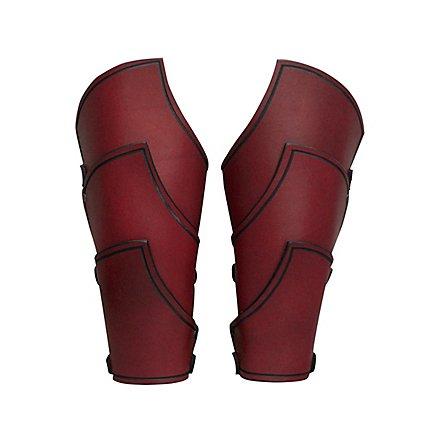 Elfenkrieger Armschienen rot