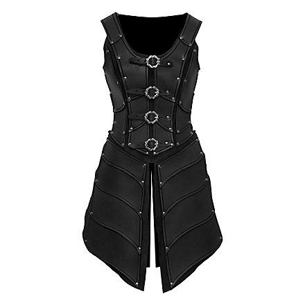 Elfenkriegerin Lederrüstung schwarz