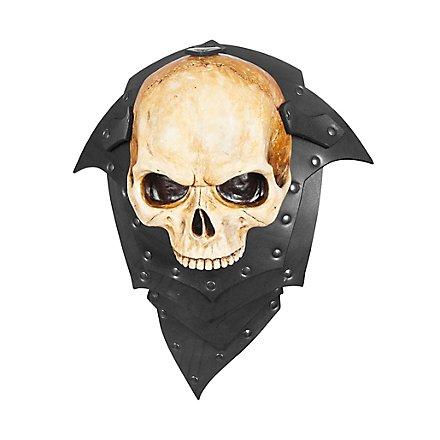 Épaulières en cuir - Seigneur des squelettes (paire)