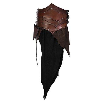 Forest ranger armor apron brown-black