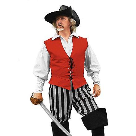 Gestreifte Piratenhose grau-schwarz