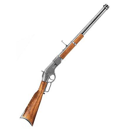 Gewehr Winchester silbern Dekowaffe