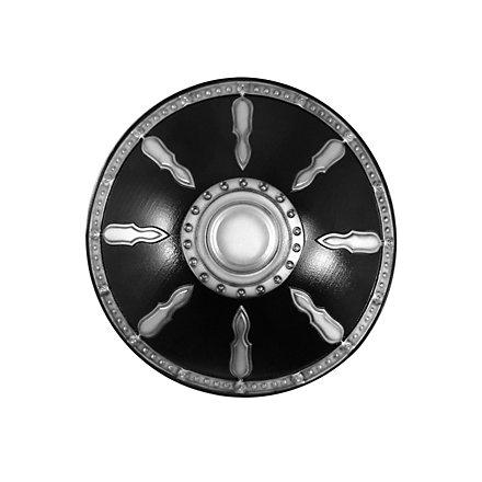 Gladiatorenschild Deluxe silber Polsterwaffe