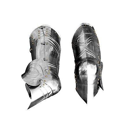 Gotische Panzerbeine aus Stahl