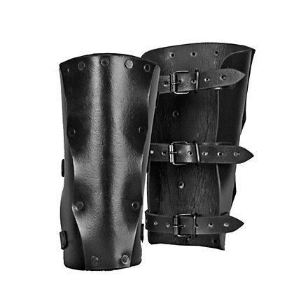 Leather Bracers Assassin black