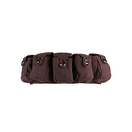 Mittelalterlicher Taschengürtel braun