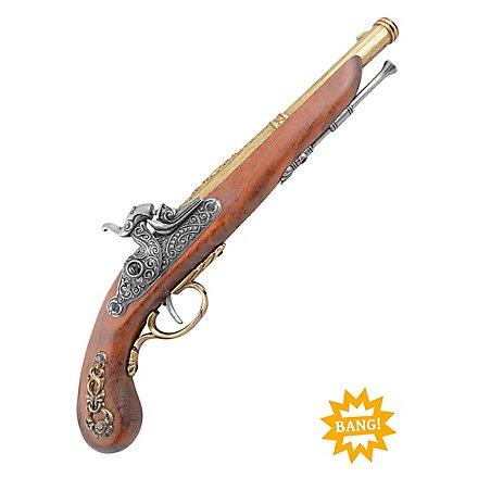 Perkussionspistole - französisch (messingfarben)