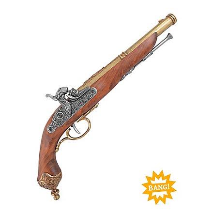 Perkussionspistole - italienisch (messingfarben)