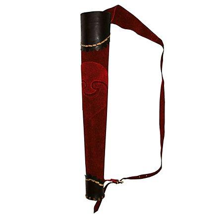 Pfeilköcher Bogenschütze rot-schwarz