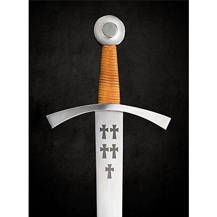 Schweres Einhandschwert mit Kreuzverzierung