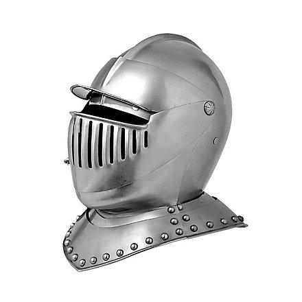 Spätmittelalterlicher Visierhelm
