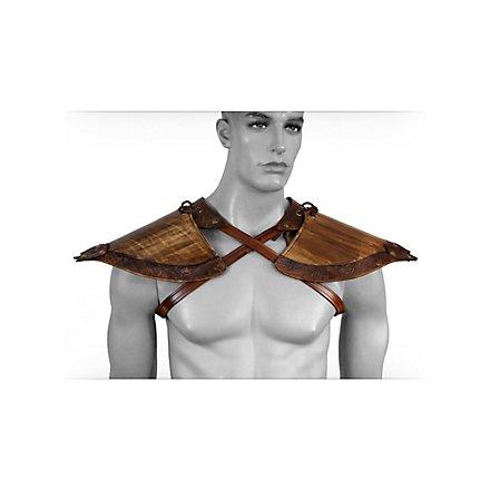 Waldelfen Schulterschutz aus Leder
