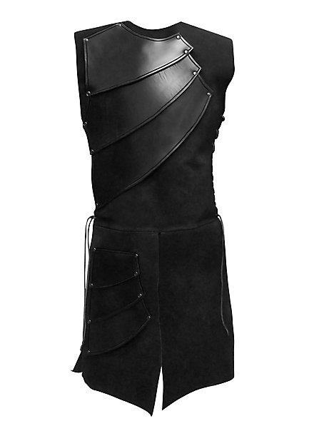 Armure d'archer en cuir noir