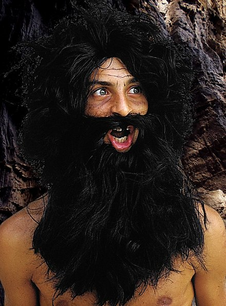 Barbar Bart mit Perücke