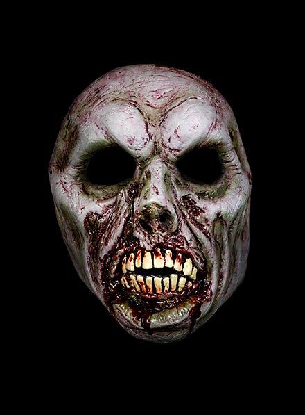 Bissiger Zombie Halbmaske aus Latex