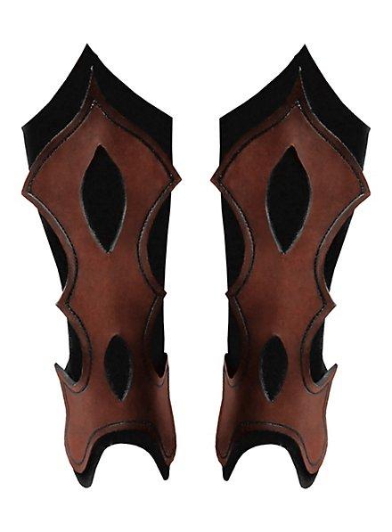Bogenschütze Beinschienen braun