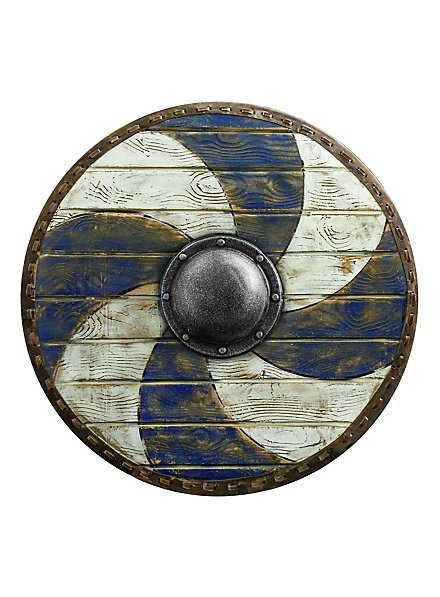 Bouclier rond - Bleu/blanc (70cm)