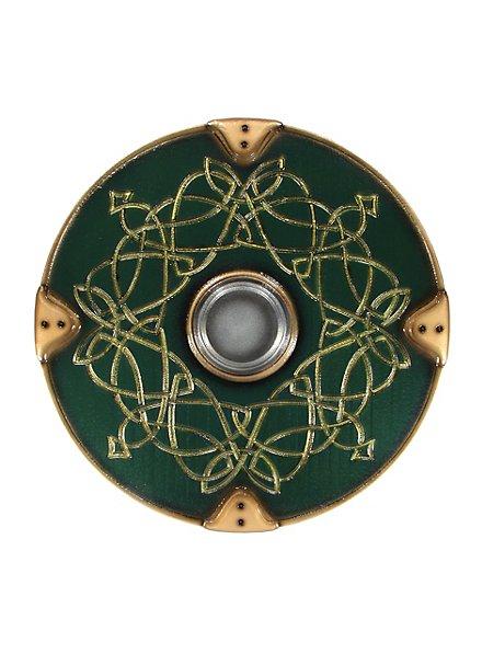 Bouclier rond luxe de viking vert Arme factice