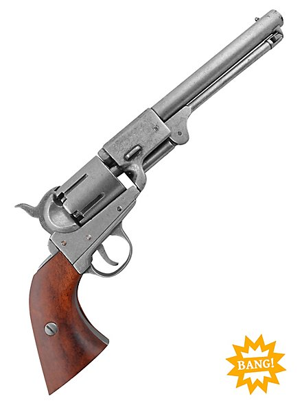 """Colt-Revolver """"US Army"""" silbern Dekowaffe"""