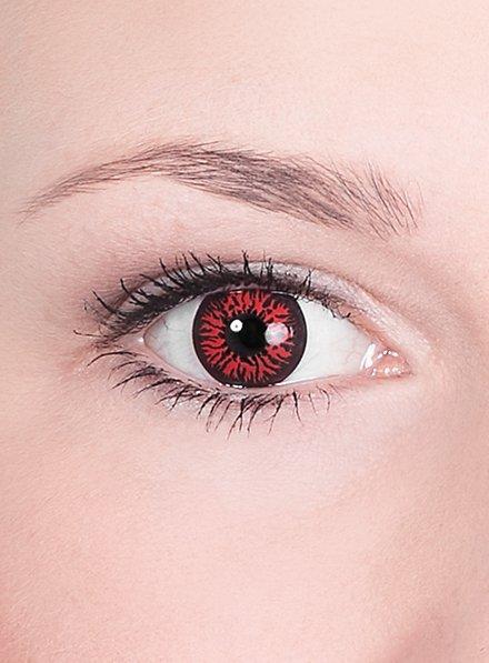 Dunkelrote Kontaktlinsen Dämon