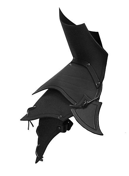 Schulterpanzer Leder schwarz Dämon