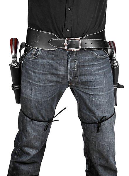 Doppeltes Pistolenholster aus Leder
