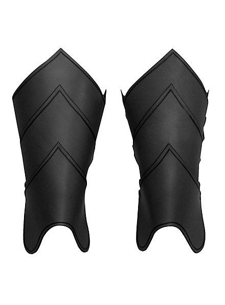 Drachenreiter Beinschienen schwarz