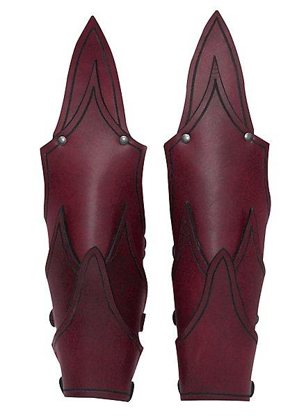 Dunkelelf Armschienen rot