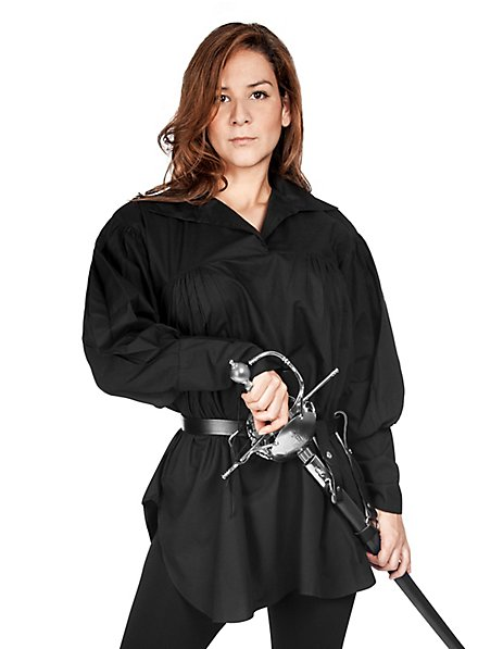 Hemd Abenteurerin schwarz