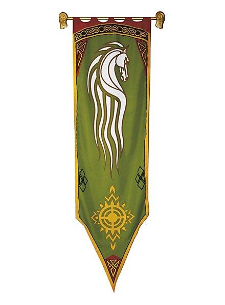 Herr der Ringe Rohan Banner grün