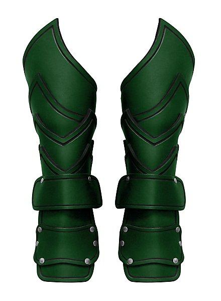 Kriegsherr Armschienen mit Handschutz grün