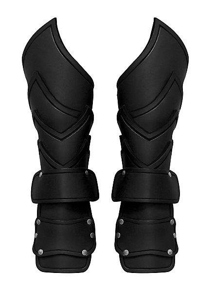 Kriegsherr Armschienen mit Handschutz schwarz