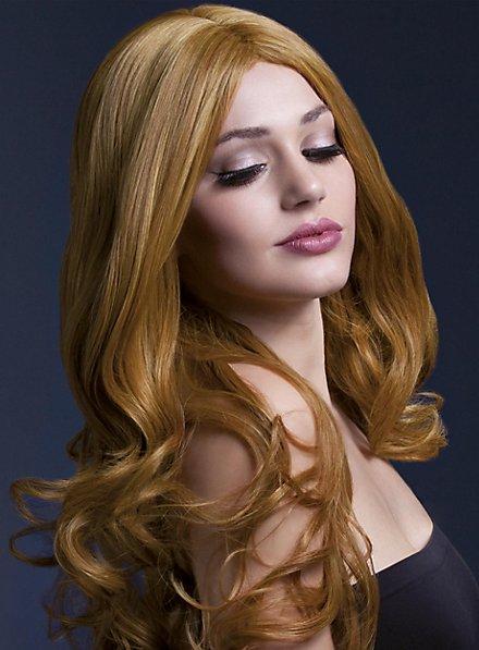 Lange Soft Curls Perücke kupfer
