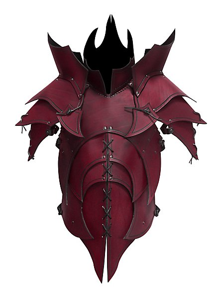 Lederrüstung - Dämon rot