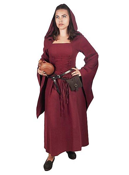 Mittelalter Kleid mit Kapuze - Nyx