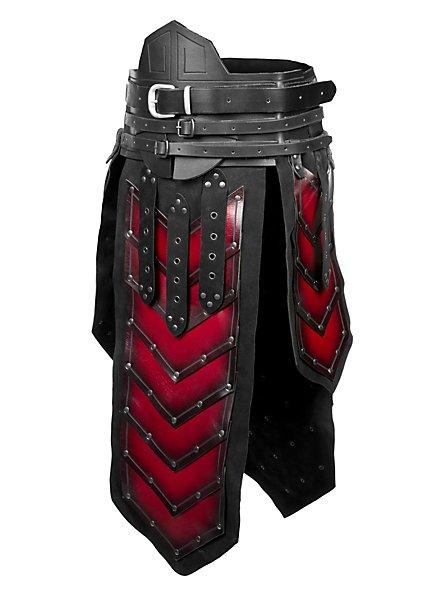 Pagne de guerrier nain noir et rouge
