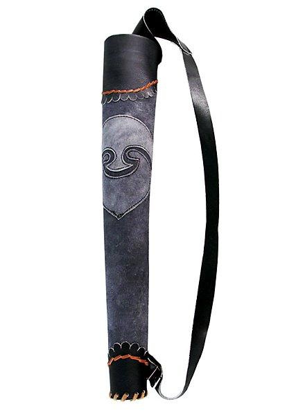 Pfeilköcher Bogenschütze grau-schwarz