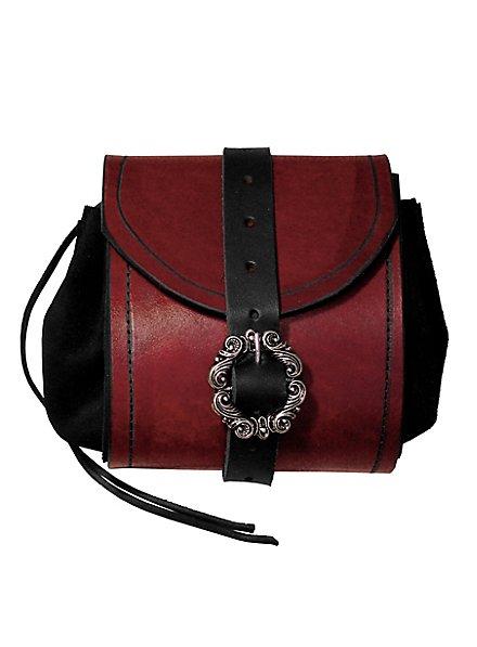 Sacoche de ceinture en cuir rouge